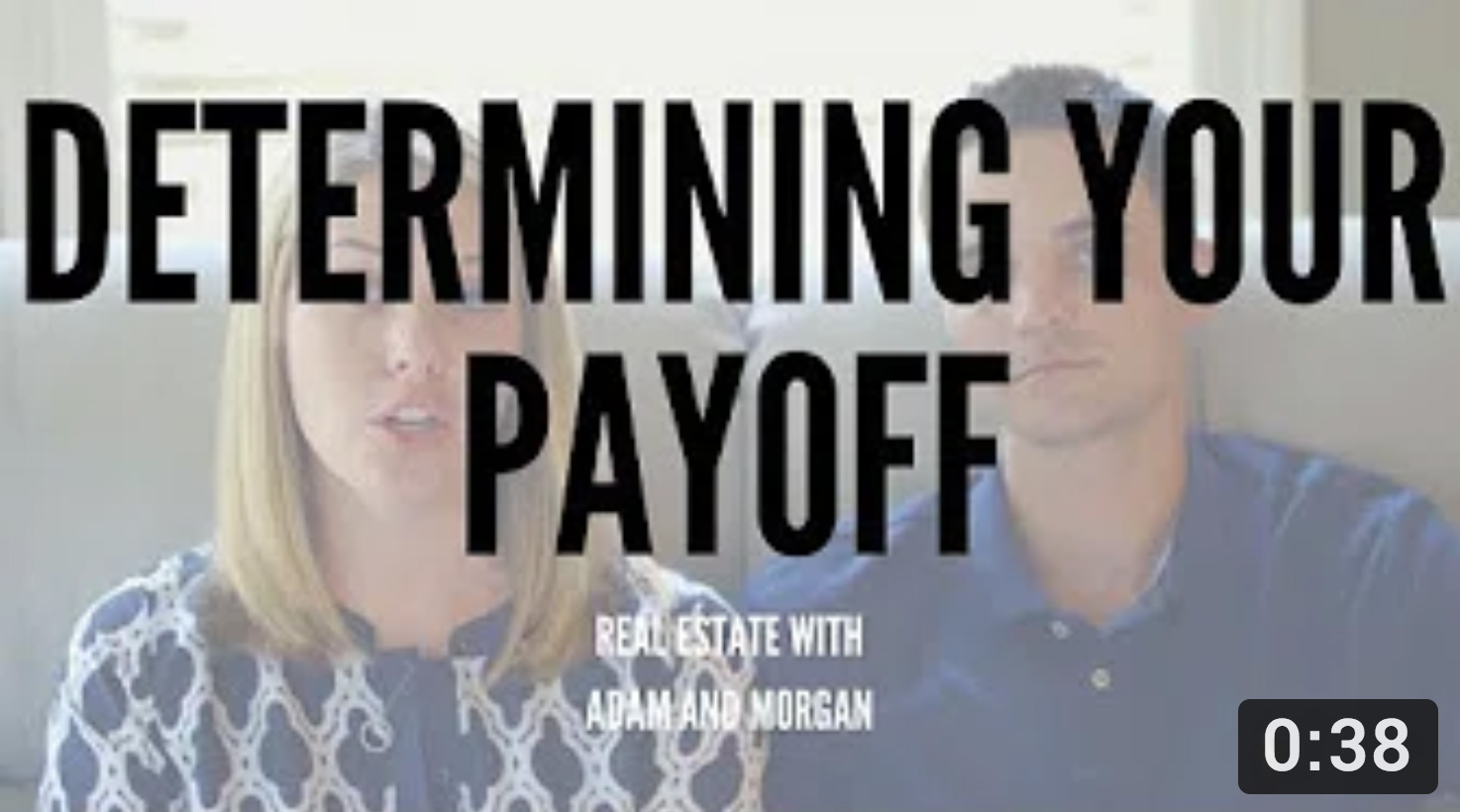 Determining Payoff